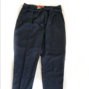 Anthro Cartonnier Blue Belted Barton Pants - S